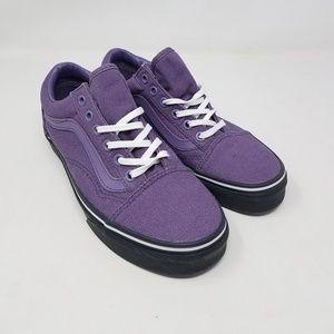 Vans Old Skool Black Outsole Purple Black Men's 5